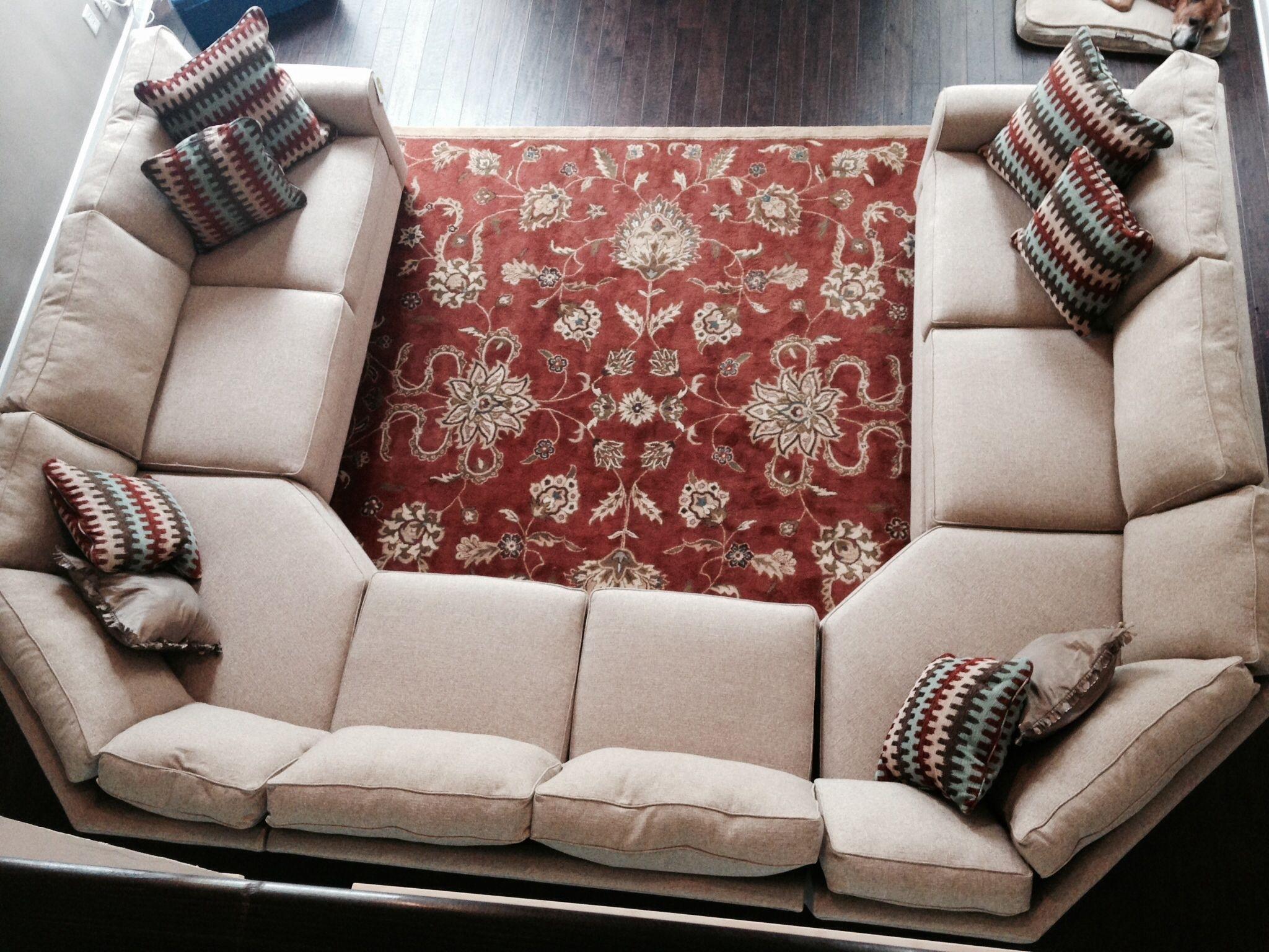 Cool U Shaped Sectional Sofas , Awesome U Shaped Sectional Sofas 44 For Blue U Shaped Sectionals (Image 3 of 10)