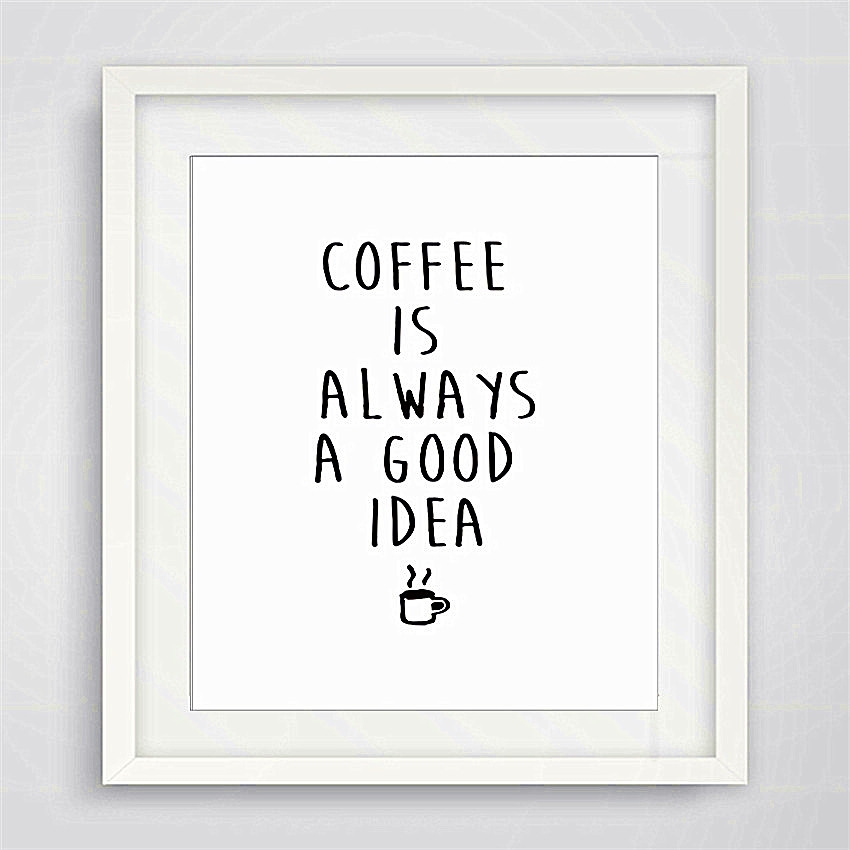 Cotill Coffee Is Good Idea Canvas Painting Home Decor Canvas Art Pertaining To Framed Coffee Art Prints (View 11 of 15)