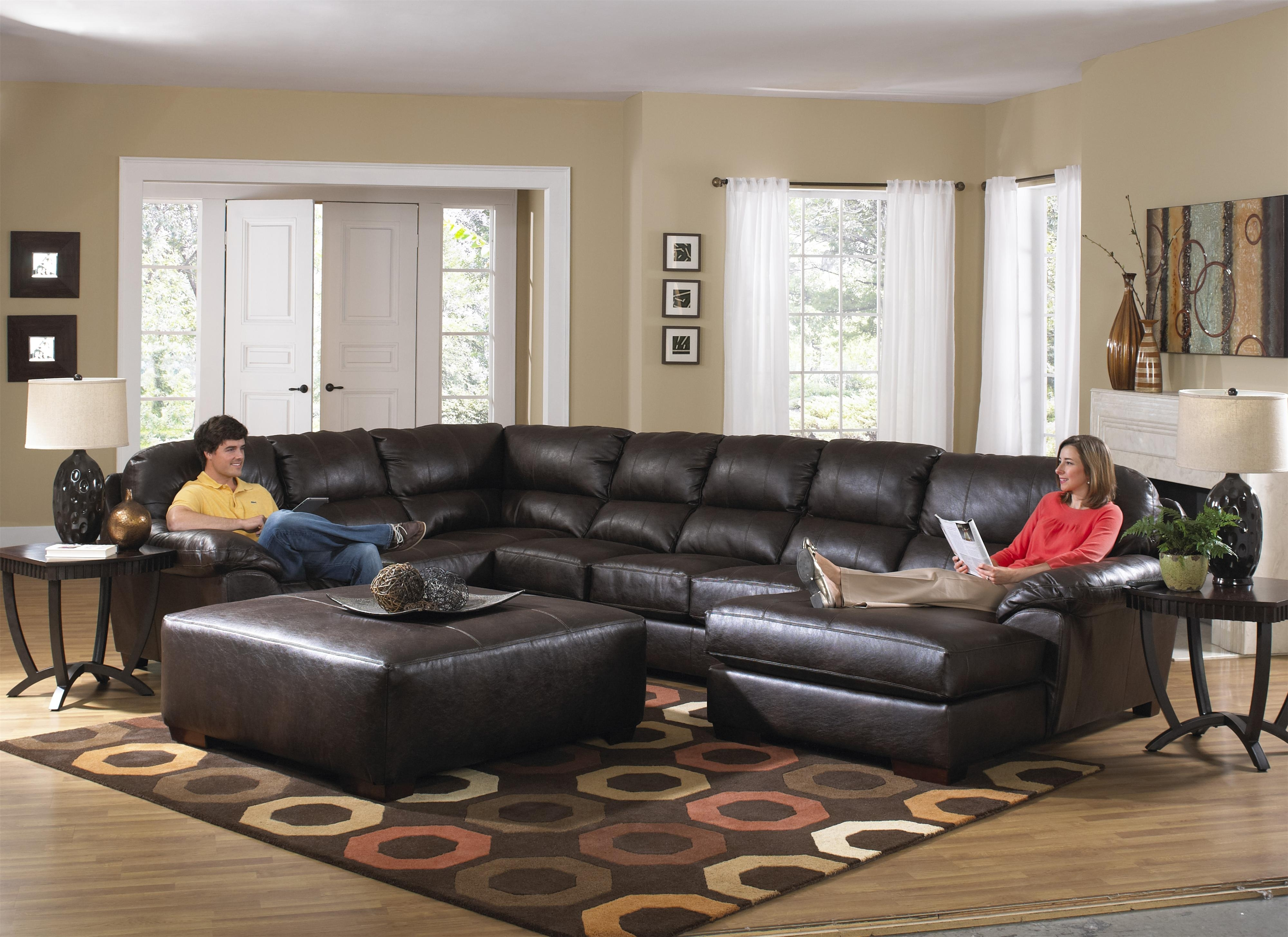 Couch With Large Ottoman – Mogams Inside Sectional Couches With Large Ottoman (View 8 of 10)