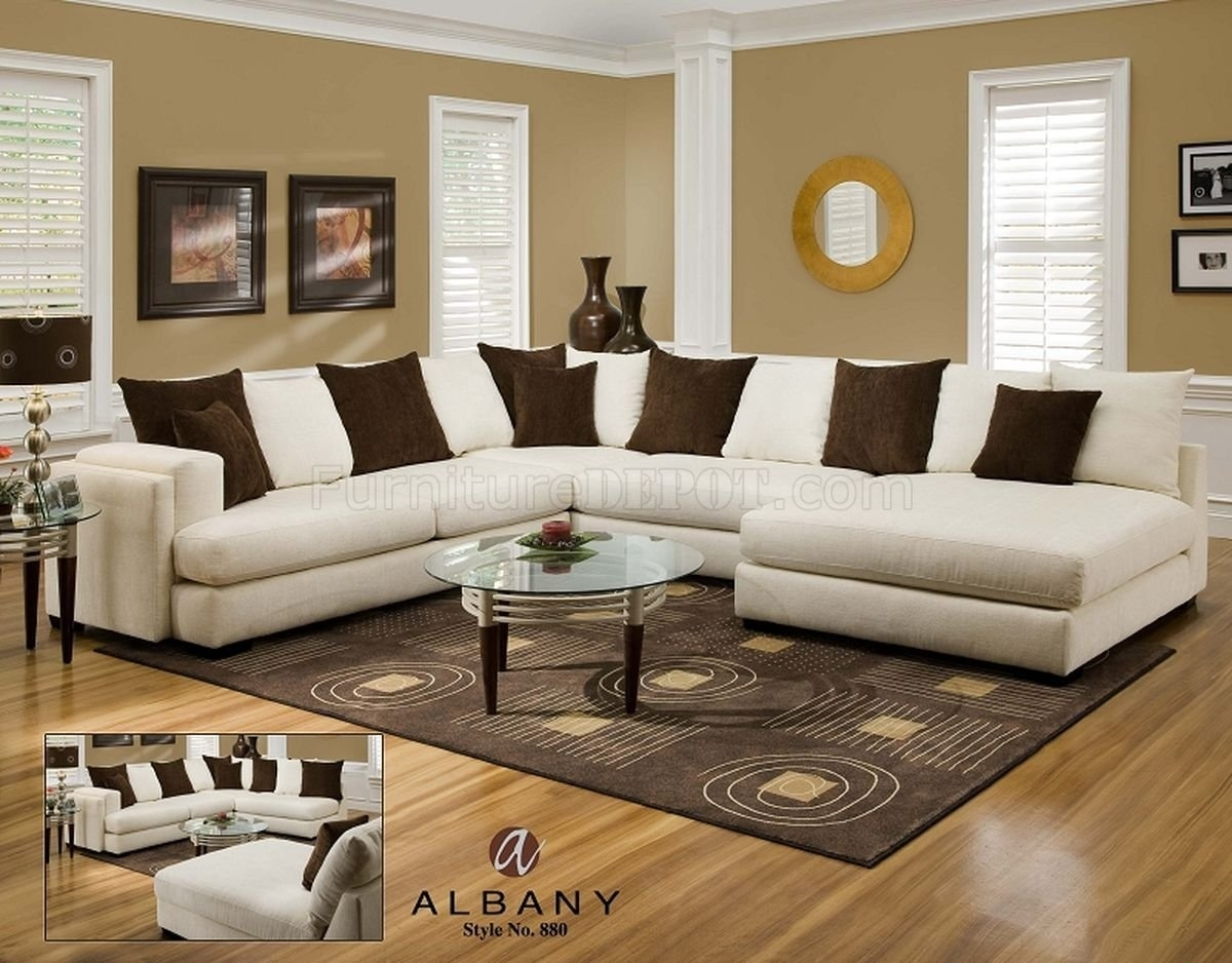 Cover Girl Pearl Fabric Modern Sectional Sofa W/options Throughout Pensacola Fl Sectional Sofas (View 7 of 10)