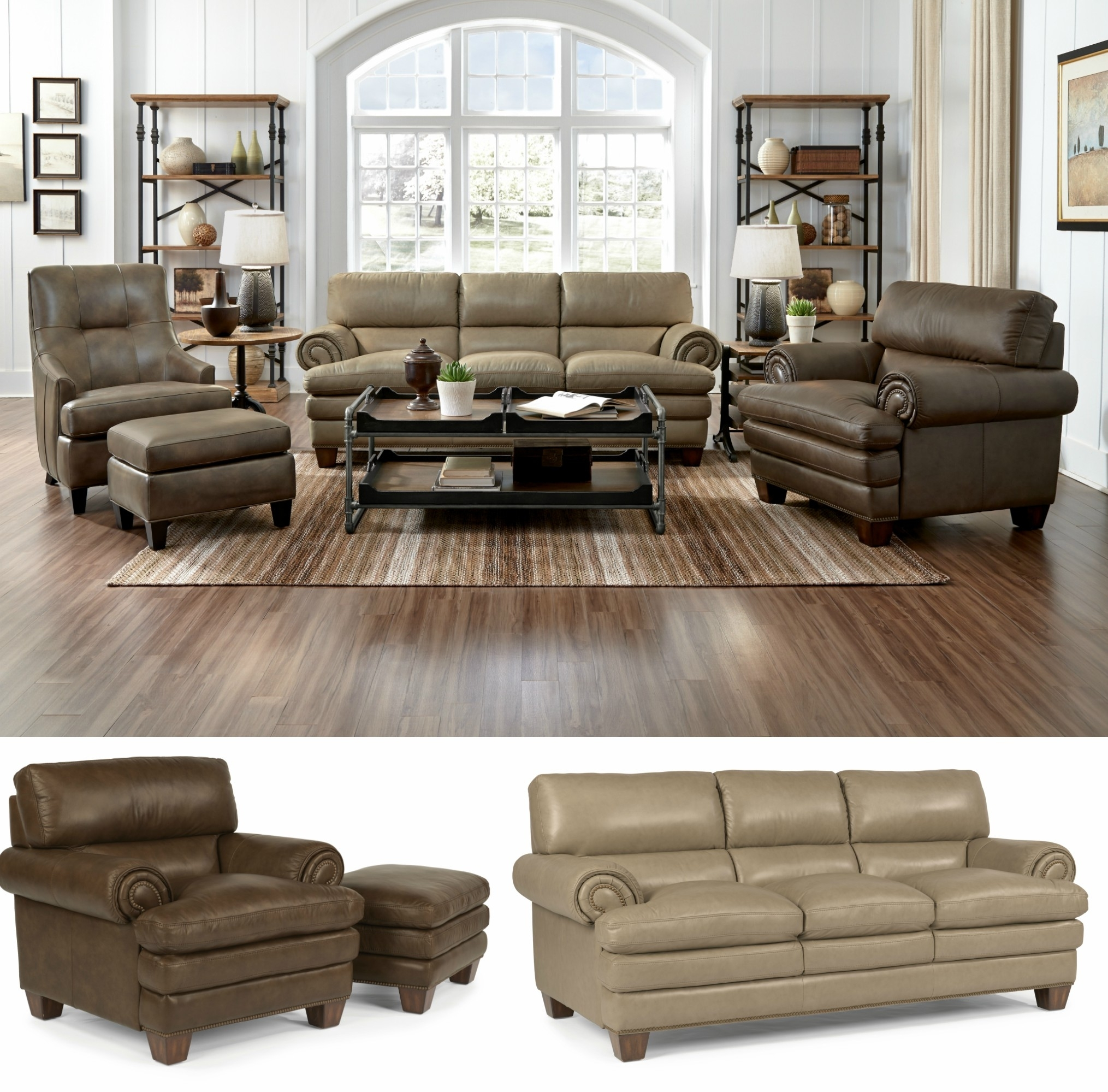 Cozy Overstuffed Leather Sofa Brown With Marvellous Decoration Camel With Camel Colored Sectional Sofas (Image 7 of 10)