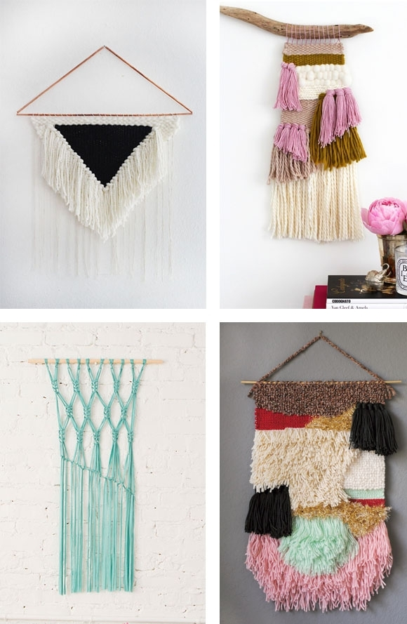 Craft Trend: Woven Wall Hangings | Zakka Life Within Diy Textile Wall Art (Image 7 of 15)