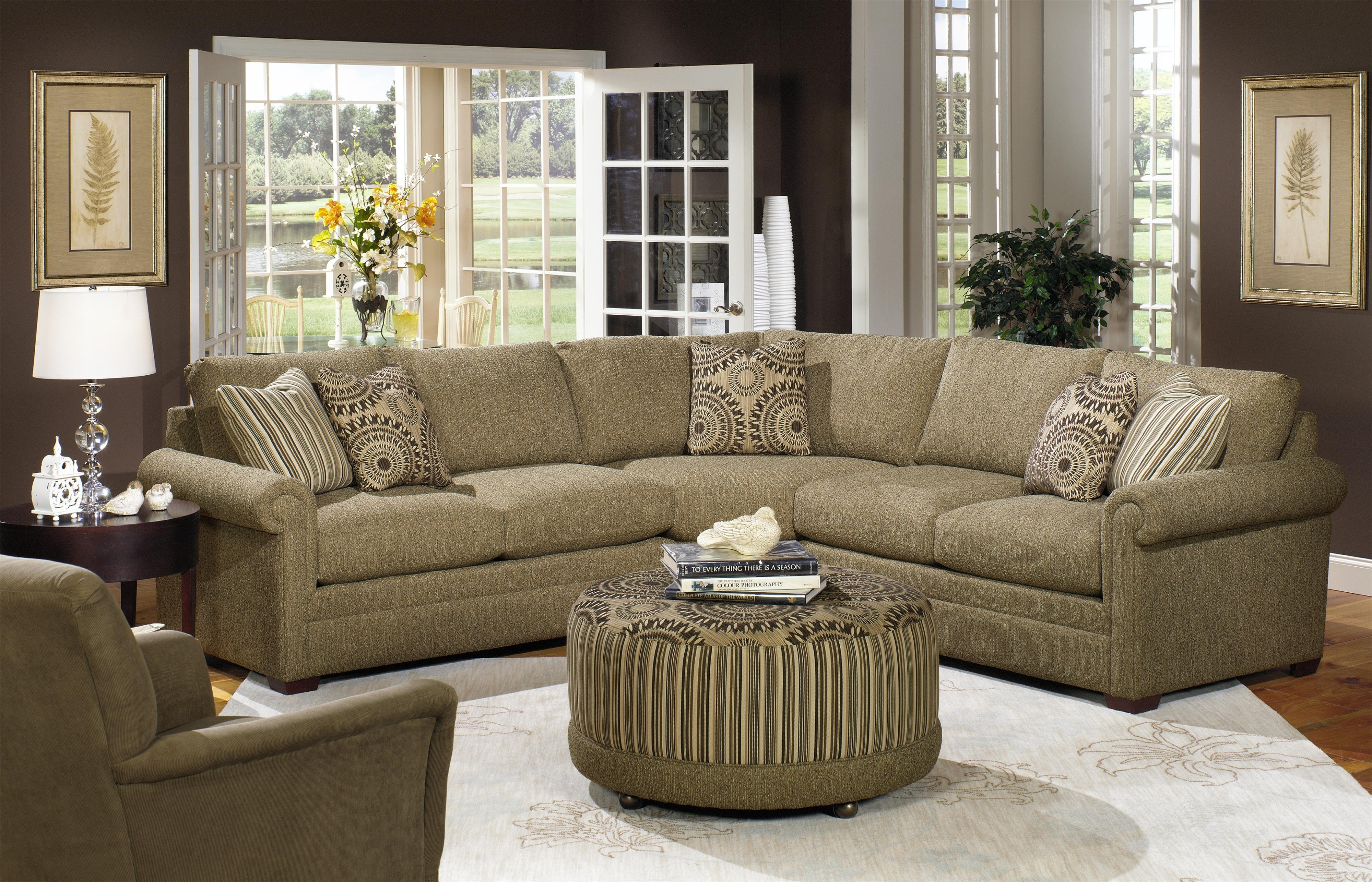 Craftmaster F9 Custom Collection <B>Customizable</b> 3 Piece Within Craftsman Sectional Sofas (Image 2 of 10)