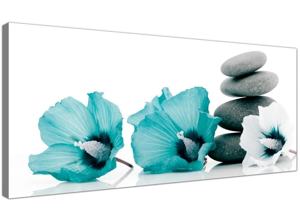 Crazy Teal Canvas Wall Art Large Tree Floral Flowers Sets Pictures With Regard To Jcpenney Canvas Wall Art (Image 6 of 15)