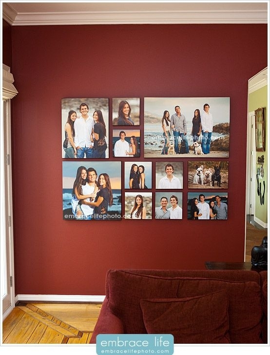 Create A Black And White Gallery Wall Of Favorite Family Pictures In Portrait Canvas Wall Art (Image 4 of 15)