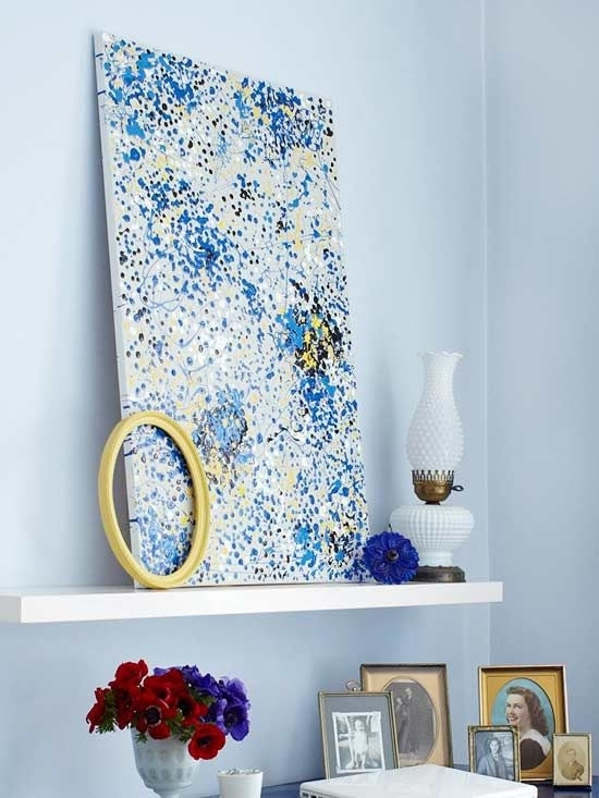 Creative And Easy Diy Canvas Wall Art Ideas Inside Diy Canvas Wall Art (Image 7 of 15)
