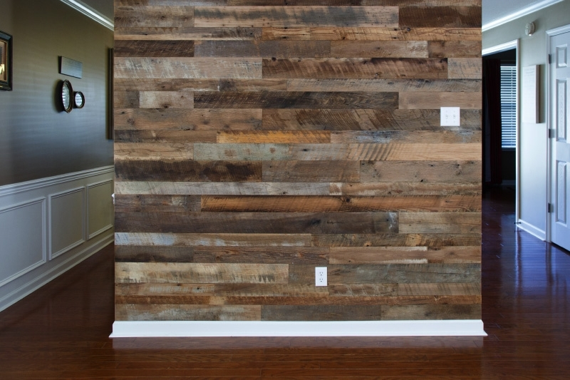 Creative Design Reclaimed Wood Accent Wall Buy Coverings Walls Inside Reclaimed Wood Wall Accents (Image 3 of 15)