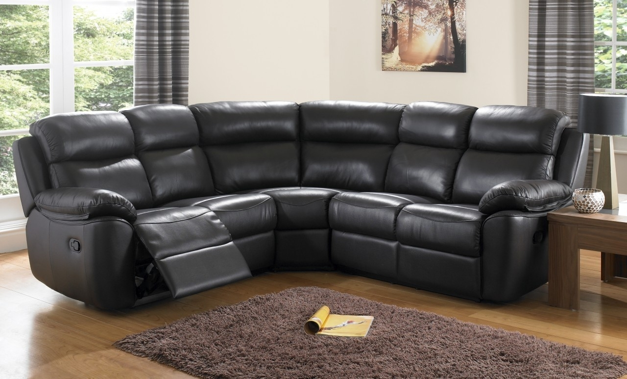 Curved Leather Reclining Sofa | Catosfera In Curved Recliner Sofas (Image 1 of 10)