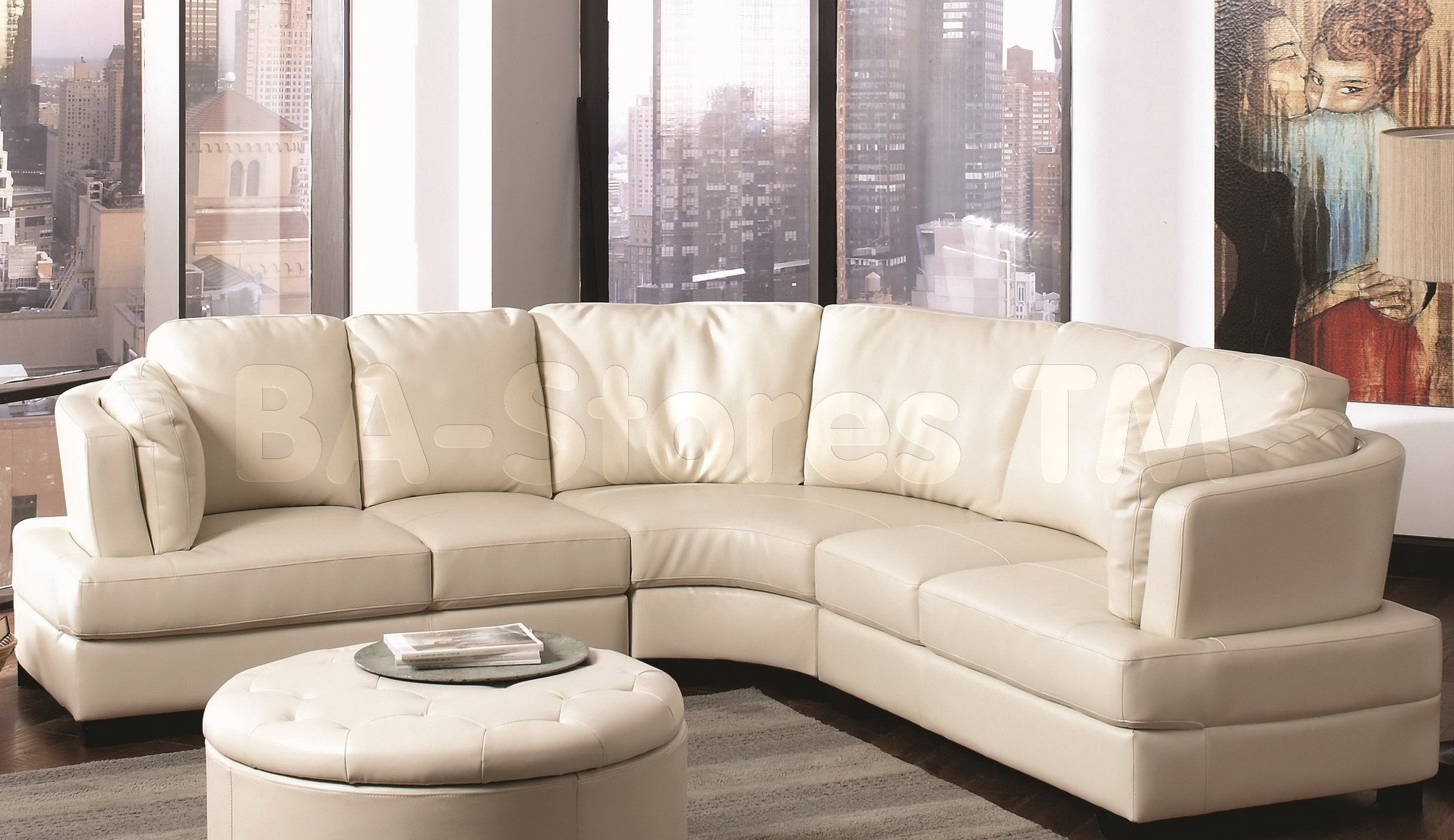 Curved Leather Sectional Sofa • Sectional Sofa Pertaining To Round Sectional Sofas (View 9 of 10)