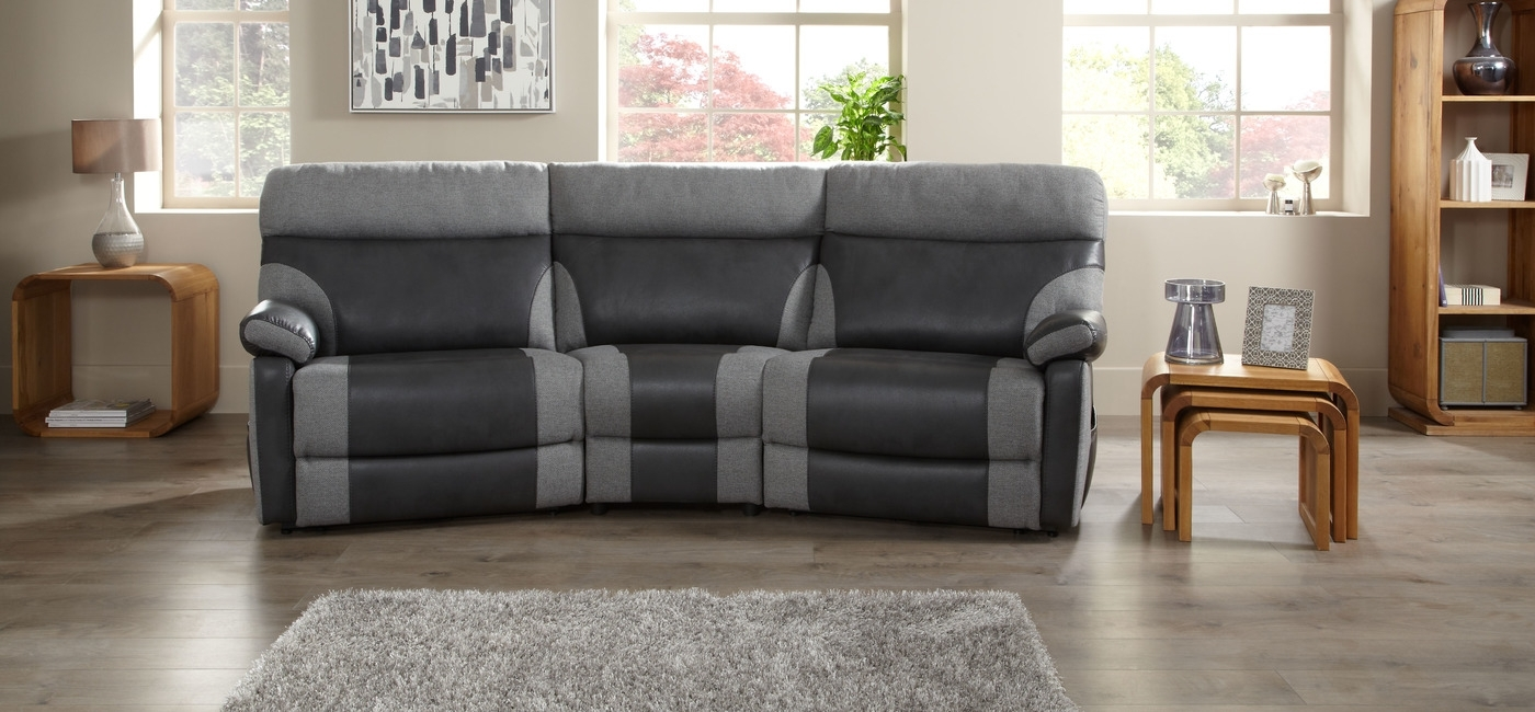 Curved Reclining Sofa | Reclining Sofa, Sofa Tables And Recliner Inside Curved Recliner Sofas (Image 2 of 10)