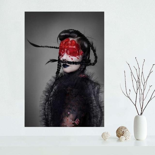 Custom Bjork Canvas Poster Wall Art Print Home Decoration Cloth With Regard To Custom Fabric Wall Art (Image 3 of 15)