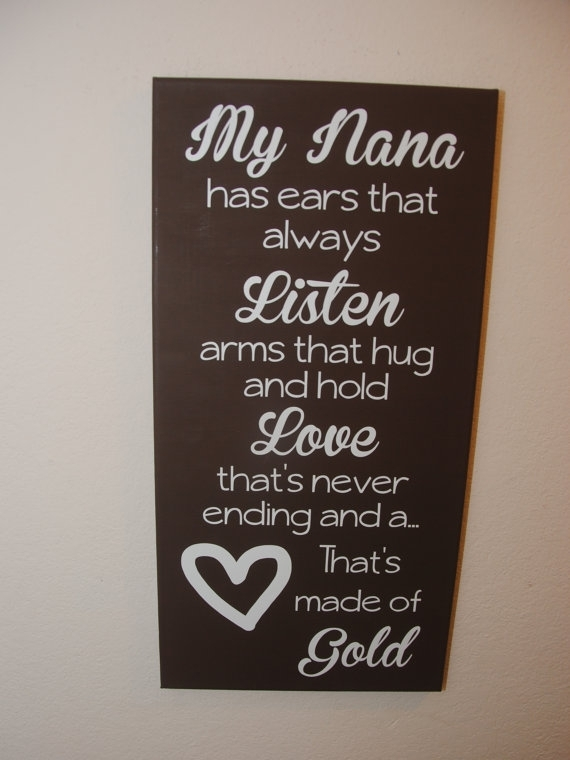 Custom Canvas Quote Wall Art My Nana Has Ears That Always Listen Within Custom Quote Canvas Wall Art (Image 4 of 15)