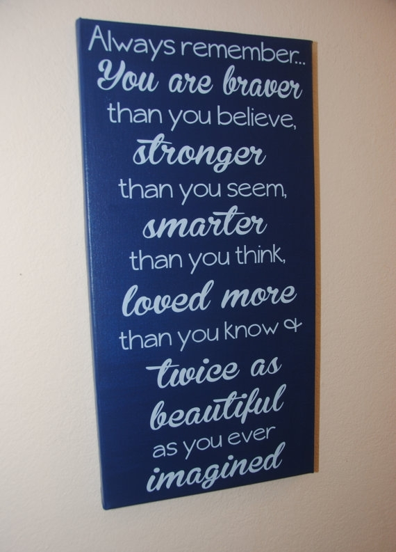 Custom Canvas Quote Wall Art Sign – Always Remember | Canvases With Custom Quote Canvas Wall Art (View 6 of 15)