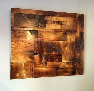 Custom Made Shou Sugi Ban Wood Art Accent Wall Artgreat Lakes Regarding Wall Art Accents (Image 4 of 15)