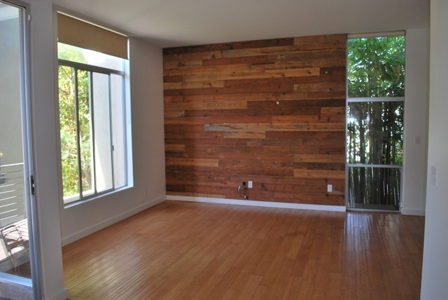 Custom Reclaimed Wood Accent Wall – Rustic – Salt Lake City – Intended For Wood Wall Accents (Image 8 of 15)