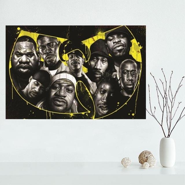 Custom Wu Tang Canvas Painting Poster Cloth Silk Fabric Wall Art Pertaining To Silk Fabric Wall Art (Image 11 of 15)