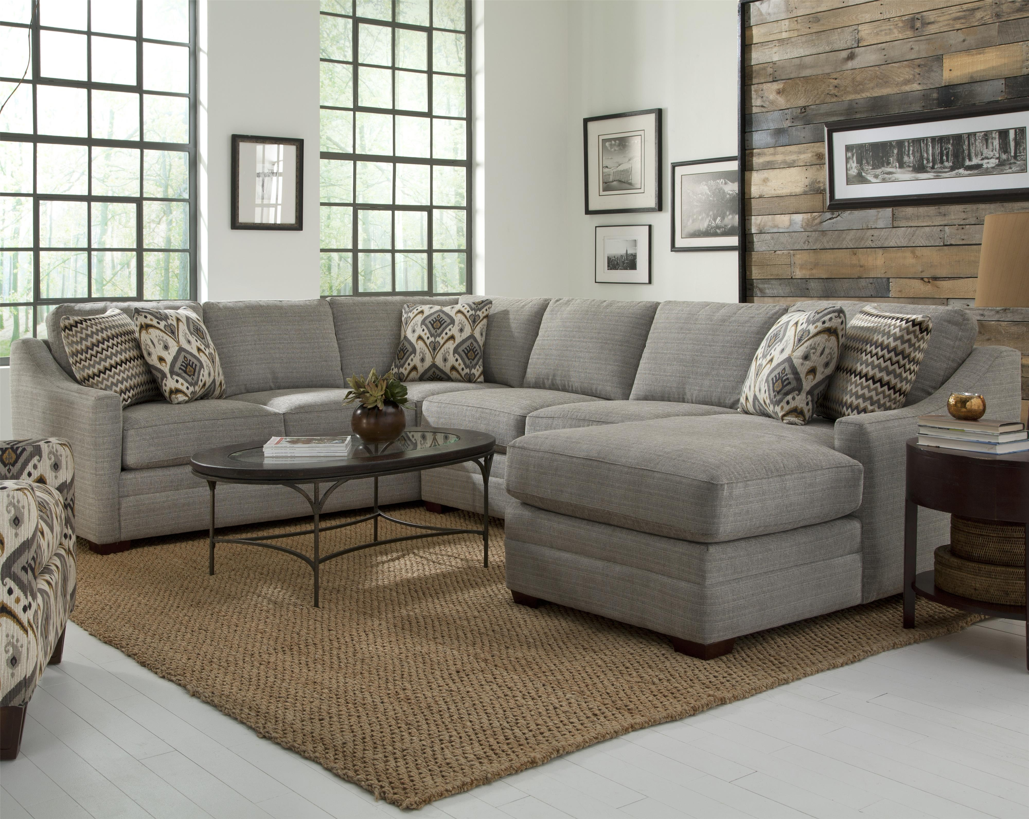 Customizable Four Piece Sectional Sofacraftmaster | Wolf And With Regard To Gardiners Sectional Sofas (Image 3 of 10)