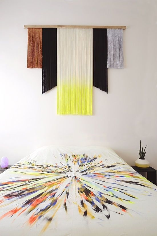 D E S I G N L O V E F E S T » Top 7 / Wall Hanging Ideas | Diy In Bedroom Fabric Wall Art (Image 6 of 15)