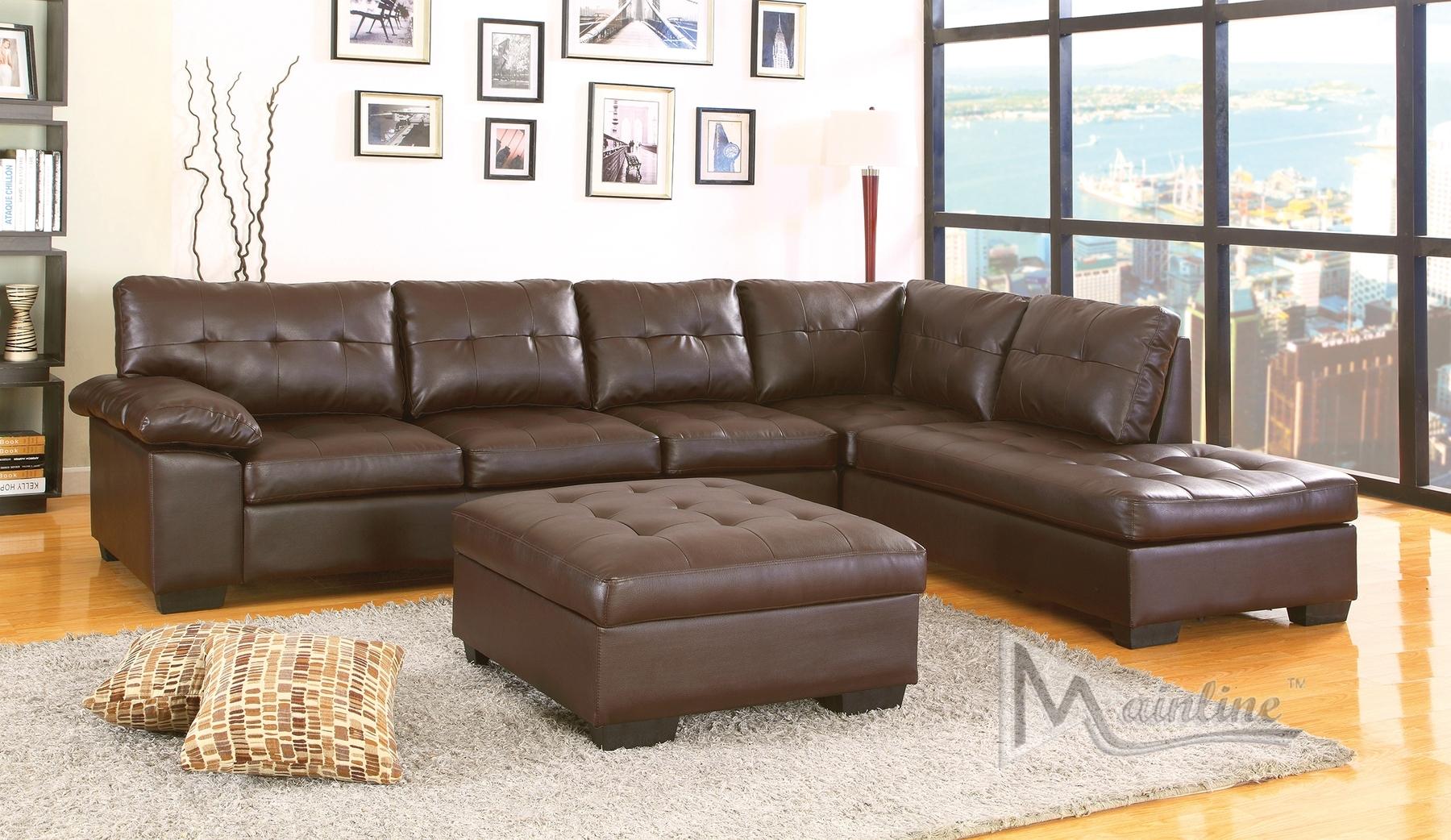 Dallas Chocolate Sectional Sofa 70130 Mainline Inc Sectional Sofas With Chocolate Sectional Sofas (View 9 of 10)