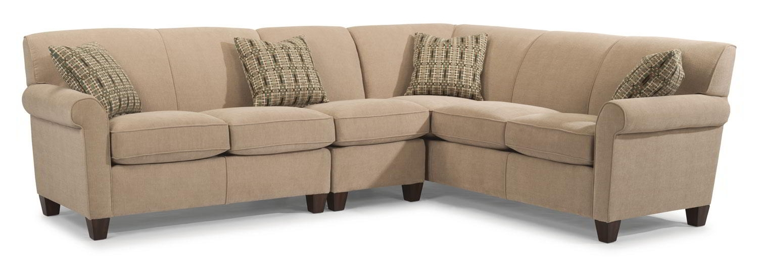 Dana Sectional, Flexsteel – Frontroom Furnishings Pertaining To Furniture Row Sectional Sofas (View 2 of 10)