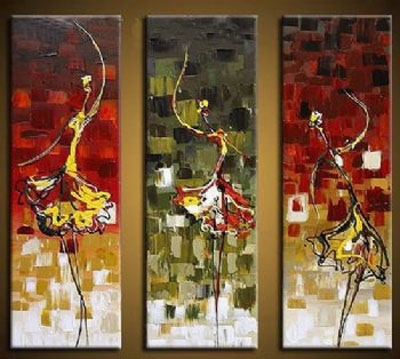 Dance Girl Modern Canvas Art Wall Decor Abstract Oil Painting Wall With Regard To Dance Canvas Wall Art (View 6 of 15)