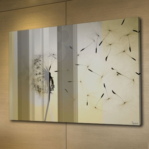 Dandelion Canvas Wall Art | Temple & Webster Inside Dandelion Canvas Wall Art (View 5 of 15)