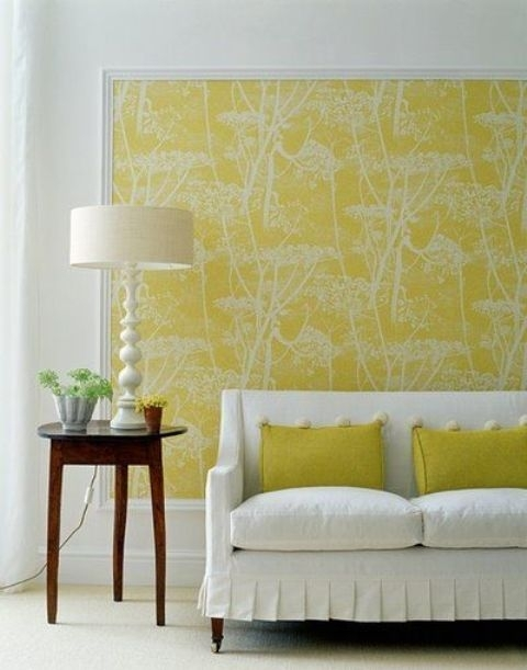Dare To Be Different: 27 Fabric Accent Walls – Digsdigs For Fabric Wall Accents (Image 5 of 15)