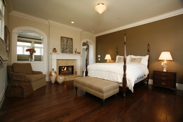 Dark Brown Accent Wall | Houzz Inside Brown Wall Accents (Image 8 of 15)
