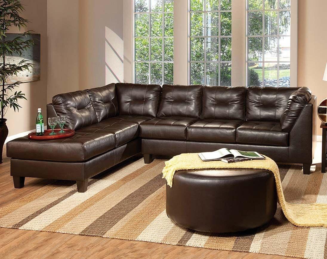 Dark Brown Leather-Like Fabric | Venus Chocolate Sectional Sofa pertaining to Chocolate Sectional Sofas
