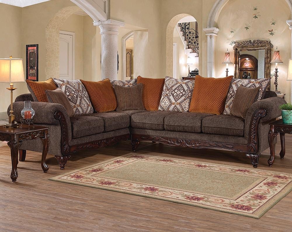 Dark Brown Sectional Sofa | Gunslinger Bark 2 Pc (View 8 of 10)