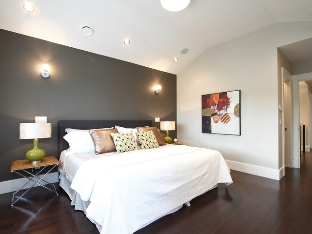 Dark Grey Accent Wall | Houzz Intended For Gray Wall Accents (Image 5 of 15)
