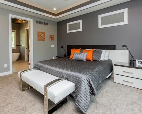 Dark Grey Accent Wall | Houzz With Regard To Gray Wall Accents (Image 6 of 15)