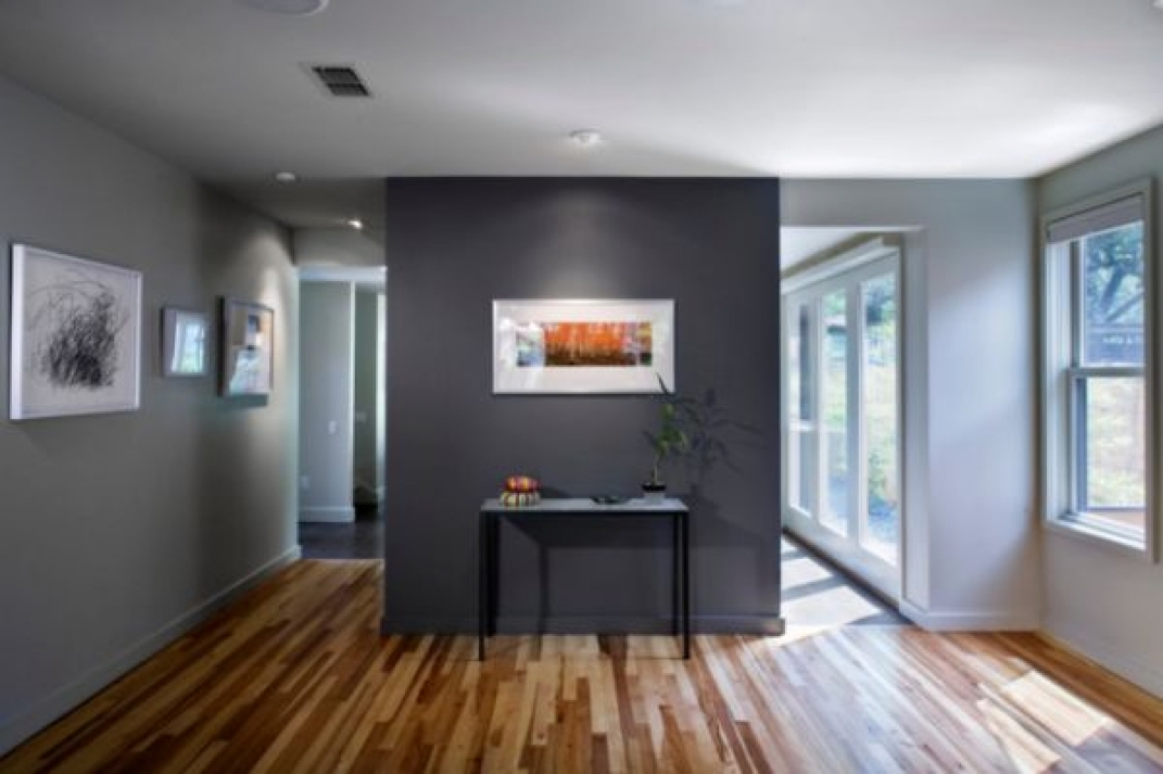 Dark Grey Accent Wall With Light Grey Walls | Someday When We Own For Neutral Color Wall Accents (View 12 of 15)
