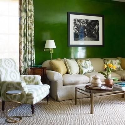 Dark Hunter Green Accent Wall | Trend: Green | Pinterest | Green Intended For Green Wall Accents (View 14 of 15)