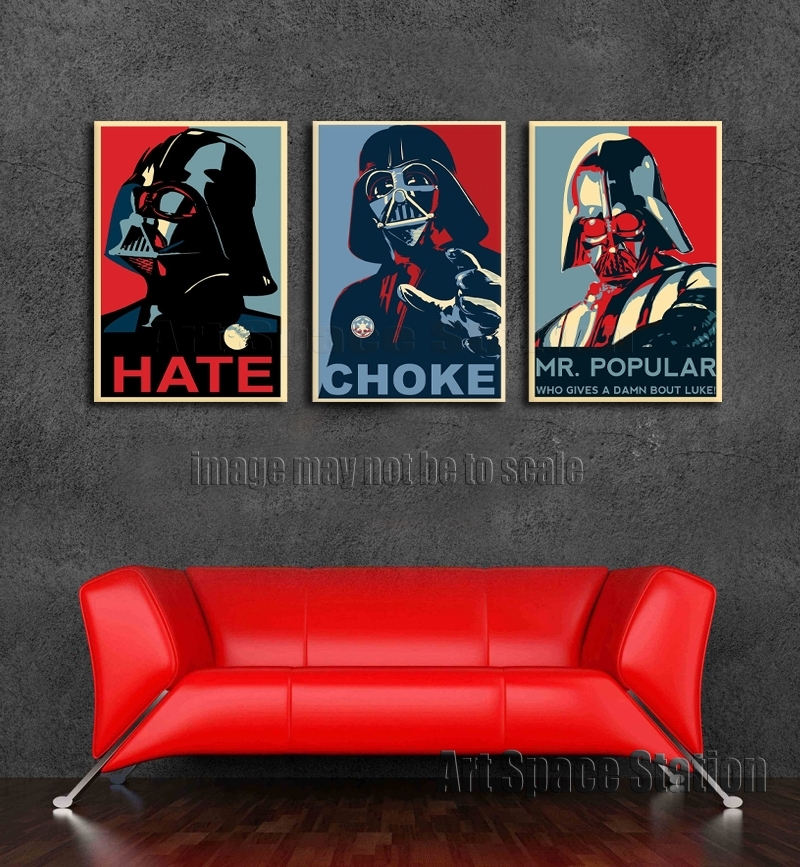 Darth Vader Star Wars Movie Poster, Space Hero Classic Art Print For Framed Classic Art Prints (View 11 of 15)