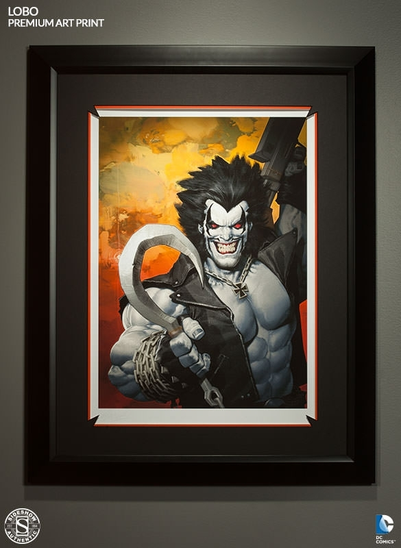 Dc Comics Lobo Premium Art Printsideshow Collectibles With Framed Comic Art Prints (Image 5 of 15)