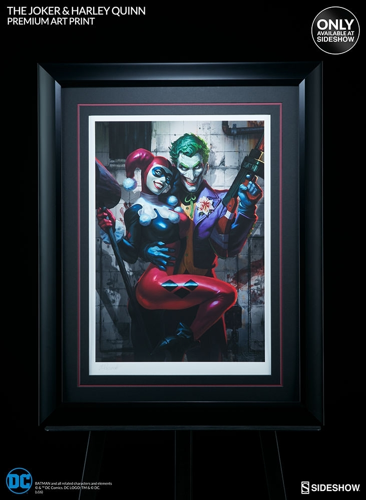Dc Comics The Joker Harley Quinn Premium Art Printsidesh Within Framed Comic Art Prints (Image 6 of 15)