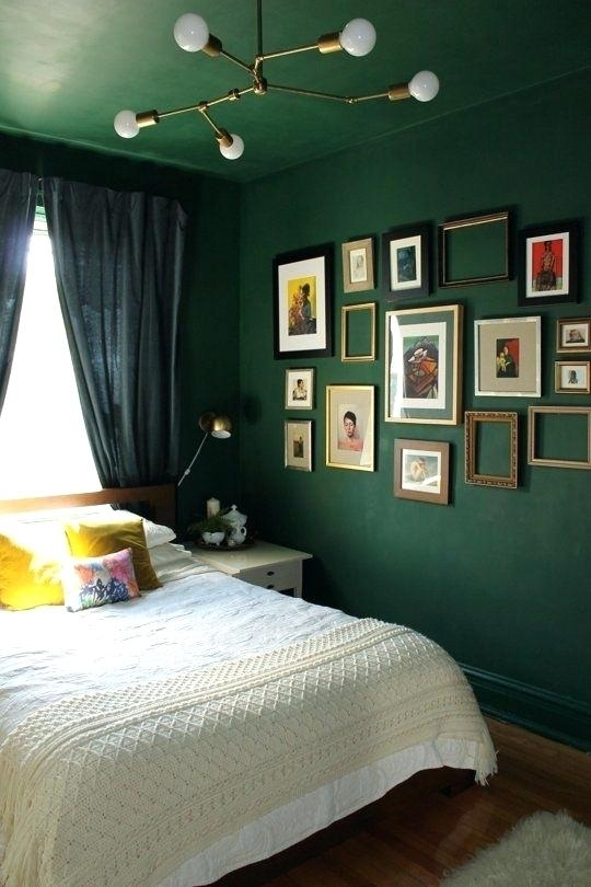 Decor With Green Accent Accent Wall Paint Ideas Dark Green Bedroom Inside Green Room Wall Accents (Image 6 of 15)