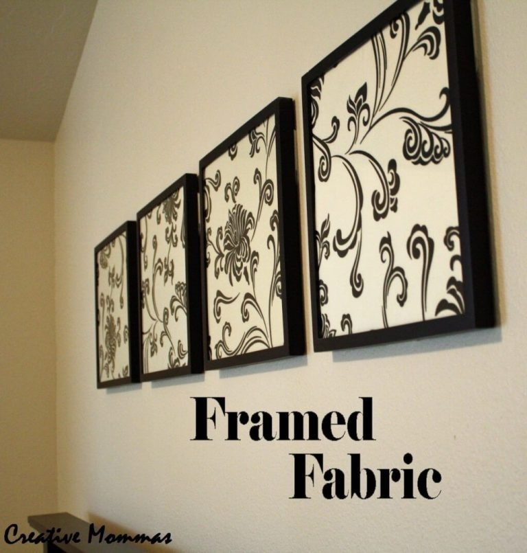 Decorating: Cheap Black And White Floral Framed Fabric Wall Art Inside Black And White Fabric Wall Art (View 8 of 15)