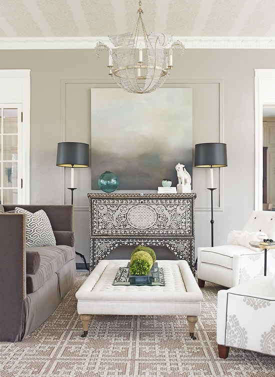 Decorating: Gorgeous Gray Rooms | Traditional Home Regarding Wall Accents For Grey Room (View 13 of 15)