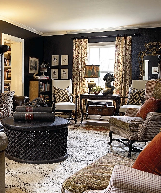 Decorating Ideas For Living Room Walls – House Decor Picture Pertaining To Brown Wall Accents (Image 9 of 15)