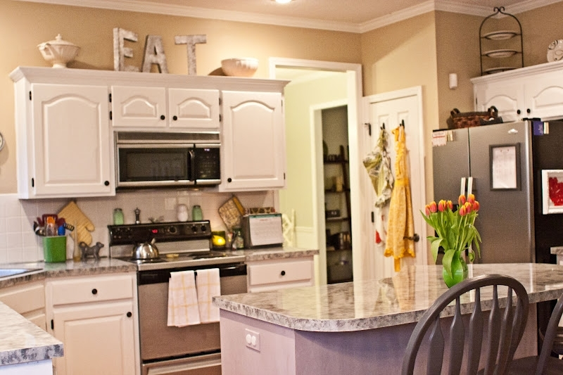 Decorating Ideas For Top Of Kitchen Cabinets With Kitchen Lovely With Regard To Wall Accents Cabinets (Image 6 of 15)