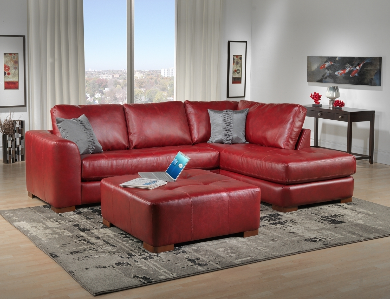 Decorating Ideas Living Room Red Leather Sofa | Living Room Ideas For Red Leather Couches For Living Room (Image 2 of 10)