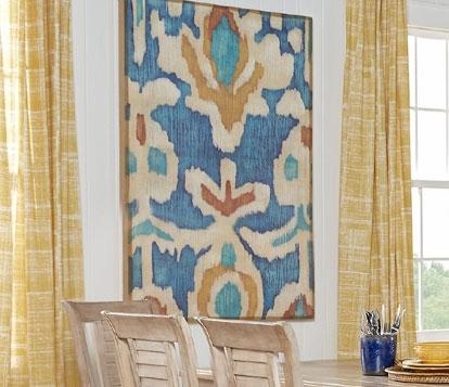 Decorating Trends: Ikat Inspired Designs Regarding Ikat Fabric Wall Art (Image 6 of 15)
