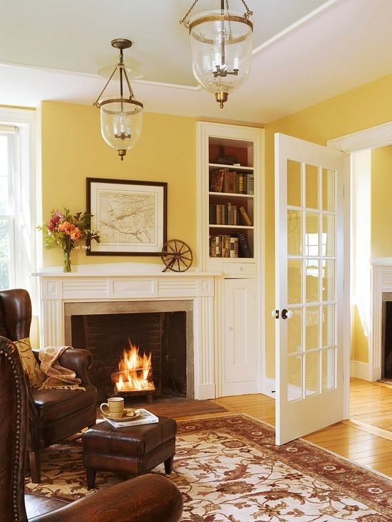 Decorating With Yellow: Walls, Accessories, And Accents | Dream Intended For Wall Accents For Yellow Room (Image 5 of 15)