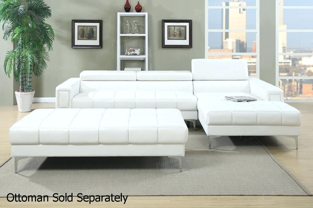 Decoration: Tufted Sectional Sofa With Chaise White Leather Espresso With Tufted Sectional Sofas With Chaise (Image 2 of 10)