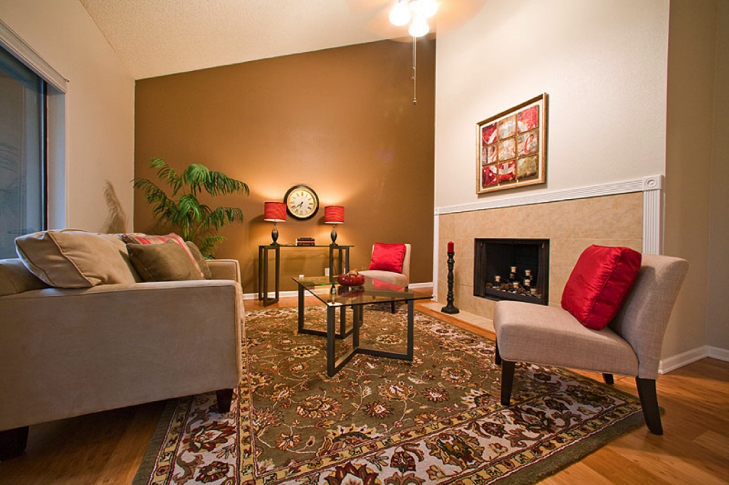 Decorations : Eclectic Natural Color Living Room Ideas Combined Throughout Wall Accents For Tan Room (Image 10 of 15)