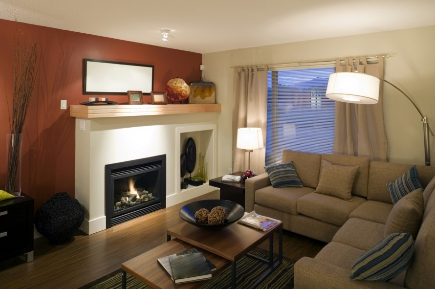 Decorations : Small Ivory Living Room Color Ideas Combined With With Regard To Wall Accents For L Shaped Room (Image 3 of 15)