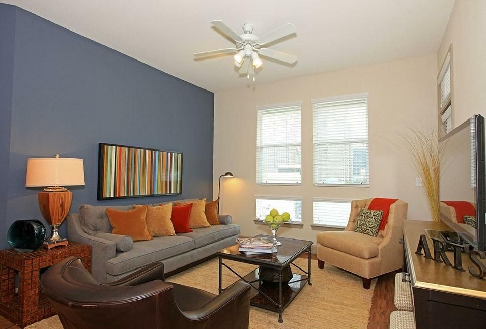 Decorations : Urban Living Room Decoration With Dark Teal Wall For Wall Accents Colors For Living Room (Image 10 of 15)