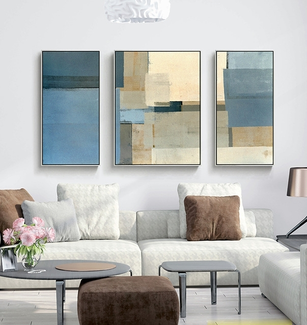 Decorative Canvas Painting 3 Piece Canvas Wall Art Wall Pictures Within Grey Canvas Wall Art (Image 6 of 15)